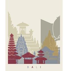 Bali skyline poster vector image