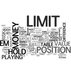 basic no limit hold em poker strategies text word vector image vector image