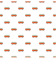 bus pattern vector image vector image