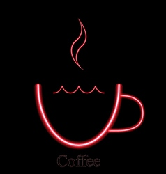 Coffee bar sign neon lights on a dark background vector image