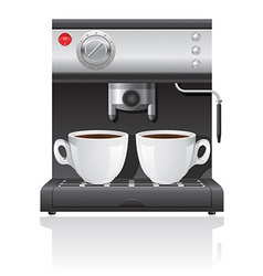 coffee maker 04 vector image vector image