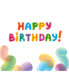 congratulations with the day of birth baloon text vector image vector image