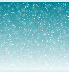 falling snow background vector image vector image