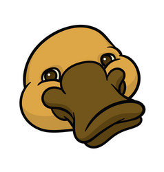 funny happy cartoon platypus or duckbill vector image