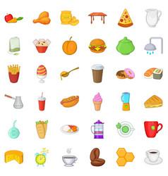 Good breakfast icons set cartoon style vector