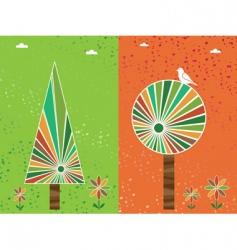 grunge floral backgound vector image vector image