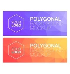 Horizontal polygonal banners vector