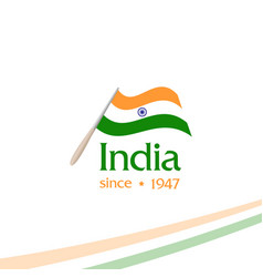 Independence day of india from the british empire vector