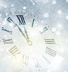 new year clock background 1609 vector image vector image