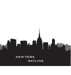 nyc cityscape urban city silhouette travel usa vector image vector image