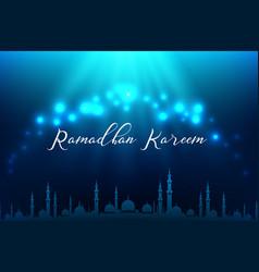 ramadhan kareem muslim vector image