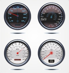Realistic car speedometer vector