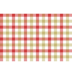 Red beige check fabric texture background seamless vector image vector image