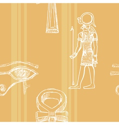 Seamless background with motive of ancient egypt vector