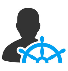 Ship captain flat icon vector