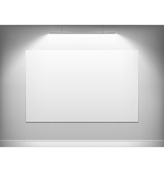 White canvas hanging on the wall vector