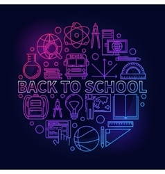 Back to school colorful sign vector