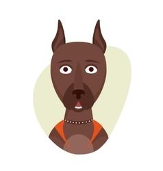 Cartoon cute doberman dog Isolated objects on vector image