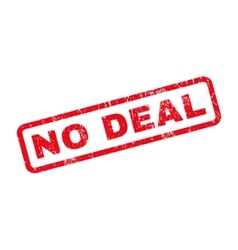 No deal rubber stamp vector