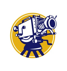 Vintage movie film camera retro vector