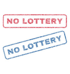 No lottery textile stamps vector