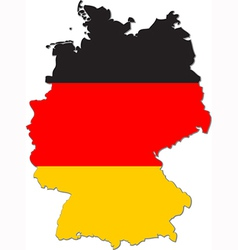 Map of Germany with national flag vector image