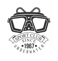 underwater sport club since 1967 vintage logo vector image
