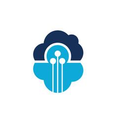 technology cloud vector image
