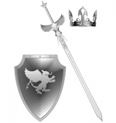 Knight fantasy sword vector