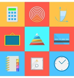 Flat icons for outsource work vector