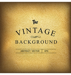 Golden vintage background template vector