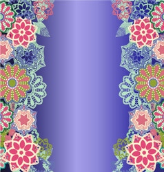 Beautiful floral decorative background vector