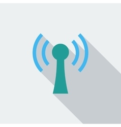 Wireless single flat icon vector
