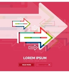 Abstract banner template with arrows linear vector
