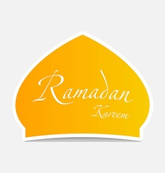 Ramadan sticker design element vector