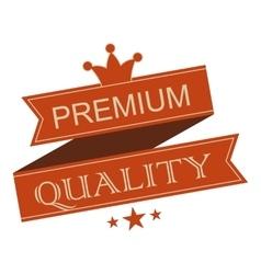 Premium quality vintage ribbon banner vector
