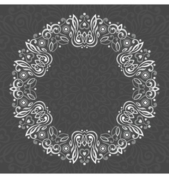 Abstract ornate mandala decorative frame for vector
