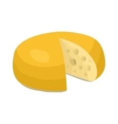 Cheese wheel icon cartoon style vector image