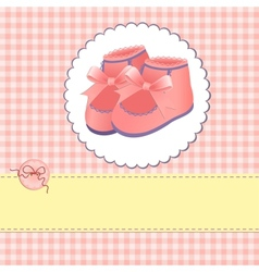 Cute template for baby card vector