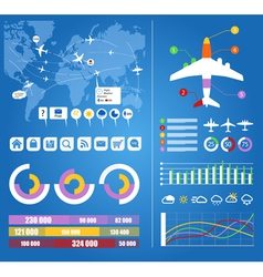 Flight infographics vector