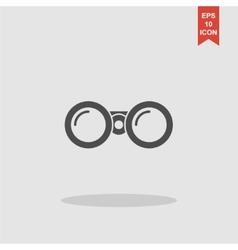 Binocular icon flat design style vector