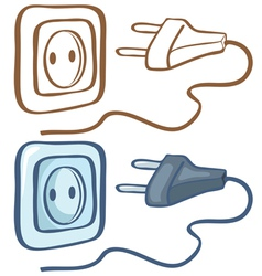 Electrical plug and socket vector