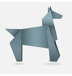 Abstract horse paper origami vector