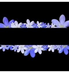 Abstract Simple Flower Pattern Background vector image vector image