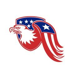American Eagle Stars and Stripes Flag Shield Retro vector image vector image
