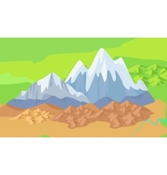 Asia mountains on map significant mountain ranges vector