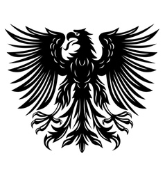 black eagle vector image