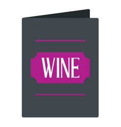 Black wine card icon isolated vector