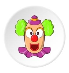 Clown face icon cartoon style vector