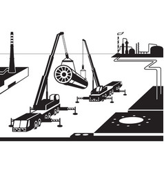 construction of industrial plant vector image vector image
